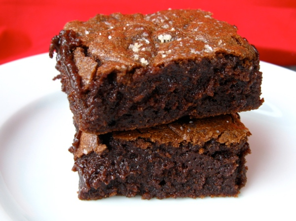 Salted Fudge Brownies | One Ordinary Day