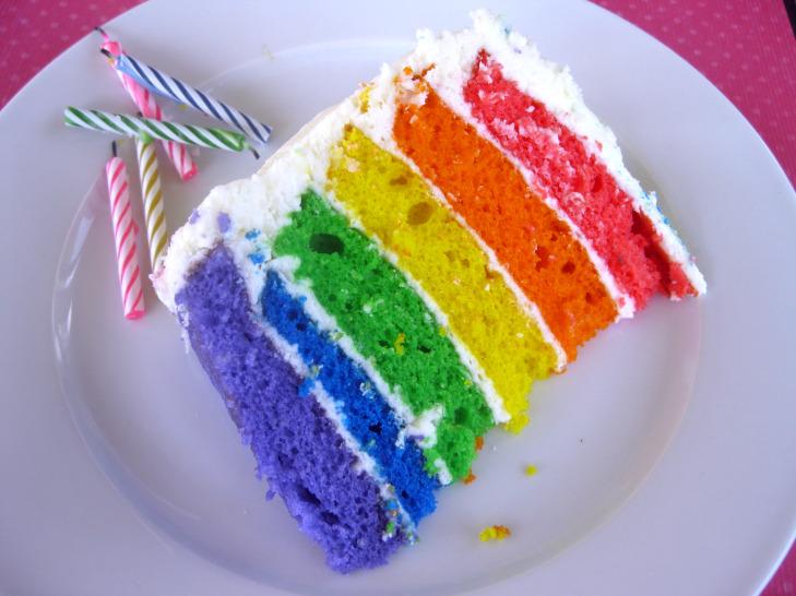 Stella veut un gâtô! \o/ [fini] Rainbow-cake