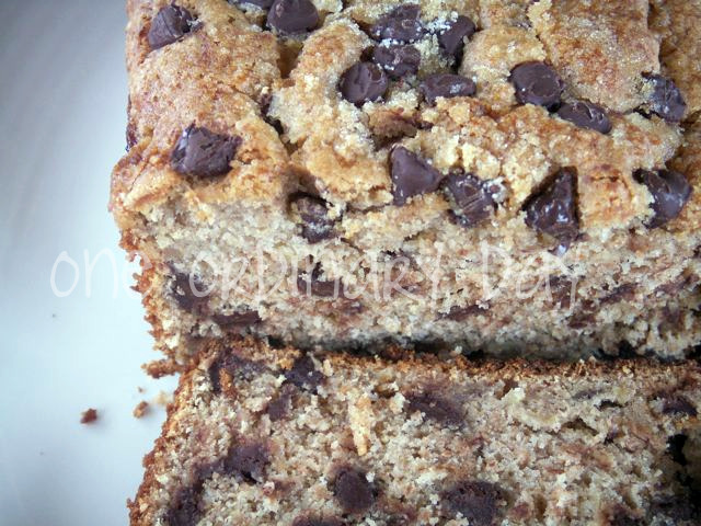 Chocolate chip peanut butter banana bread | One Ordinary Day