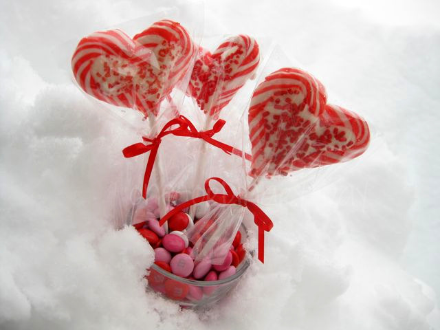 valentine lollipops and an award - Valentine Lollipops