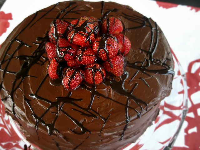 "Perfectly chocolate"" chocolate cake  One Ordinary Day"