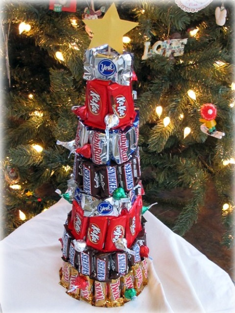 Brilliant Christmas Trees Made Out of Candy Bars 480 x 640 · 122 kB · jpeg