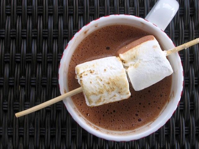 Salted peanut butter hot chocolate | One Ordinary Day
